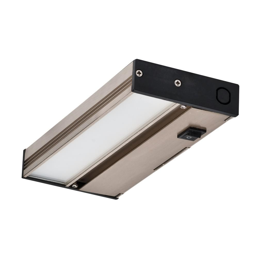 Nicor Nuc 8 In Led Nickel Dimmable Under Cabinet Light For