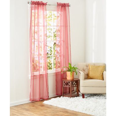 Jinchan Girl S Room Sheer Curtains Mauve Pink 90 Inches Long For