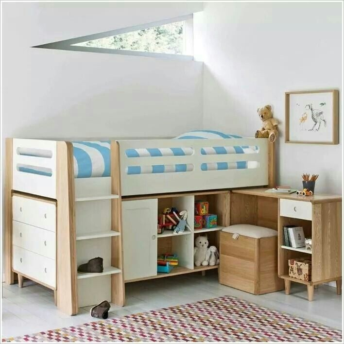 bed cabinet study table for kids