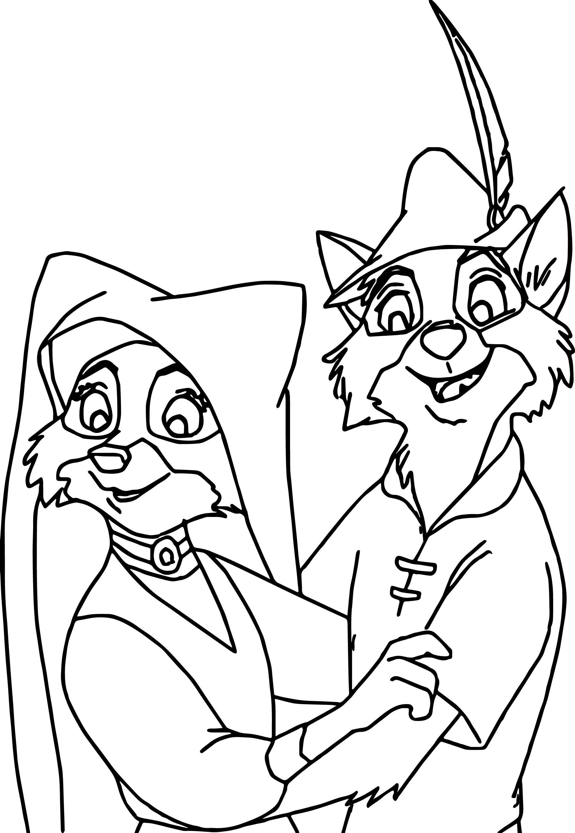 Robin Hood Disney Ausmalbilder : Disney Robin Hood Coloring Pages Wecoloringpage Pinterest