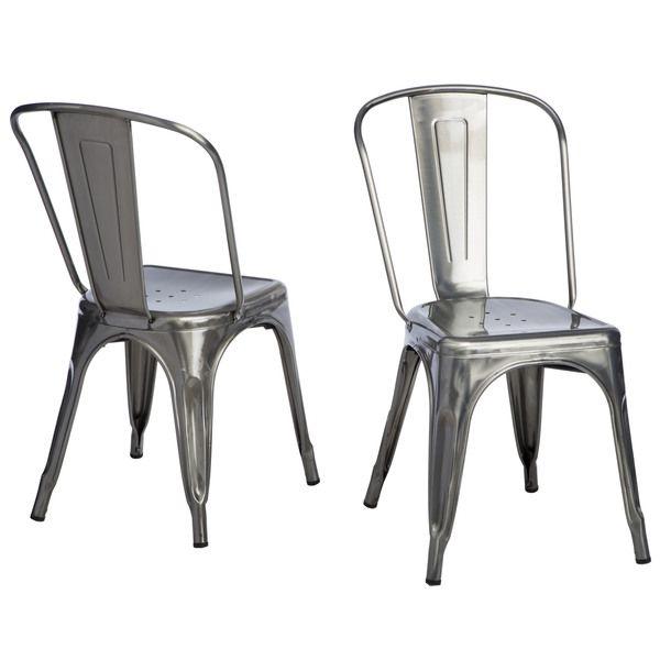 Tabouret Bistro Gunmetal Side Chairs (Set of 2)