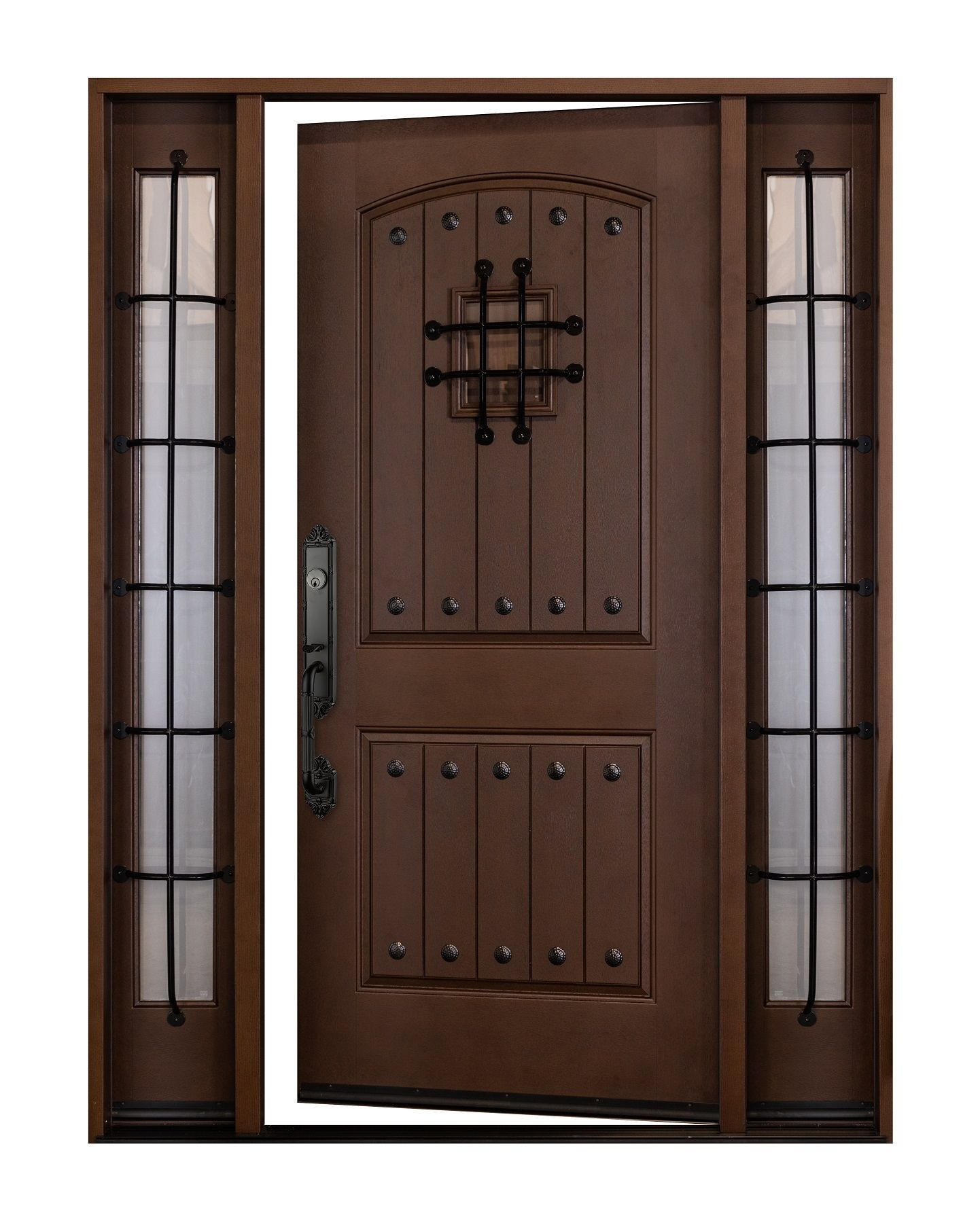 Fiberglass Maricoba Exterior Front Entry Door 1d 2sl 12 36 X80 Right Hand Swing In Fiberglass Doo Exterior Front Entry Doors Entry Doors Front Entry Doors