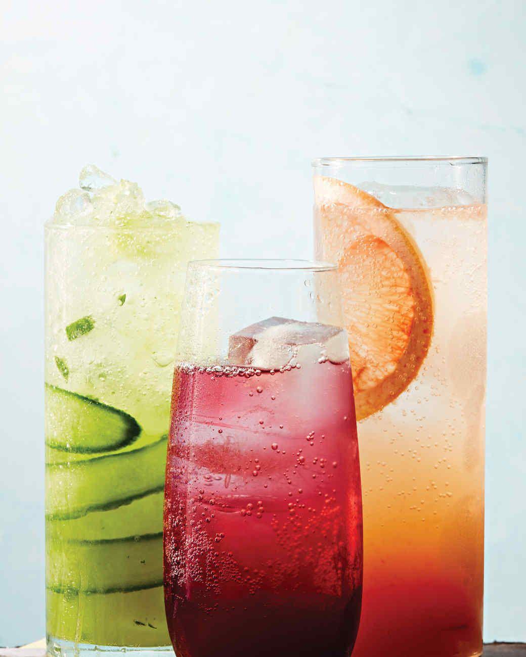 Spicy Grapefruit Spritz Recipe Grapefruit Cucumber And Ice
