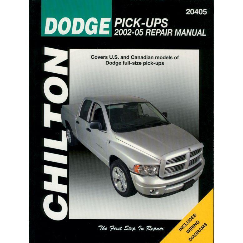 Chilton Repair Manual Ram Truck Dodge 1500 2500 3500 2002 2008 20405 Chilton Repair Manual Repair Manuals Totaled Car