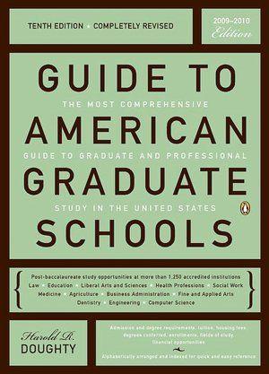 Guide To American Graduate Schools Graduate School School Preparation School
