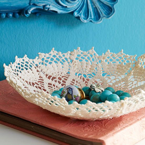 1 hour projects bowls repurpose and antique stores 1 hour projects glass bowlsflea marketslace doiliesdoilies craftsdiy solutioingenieria Image collections