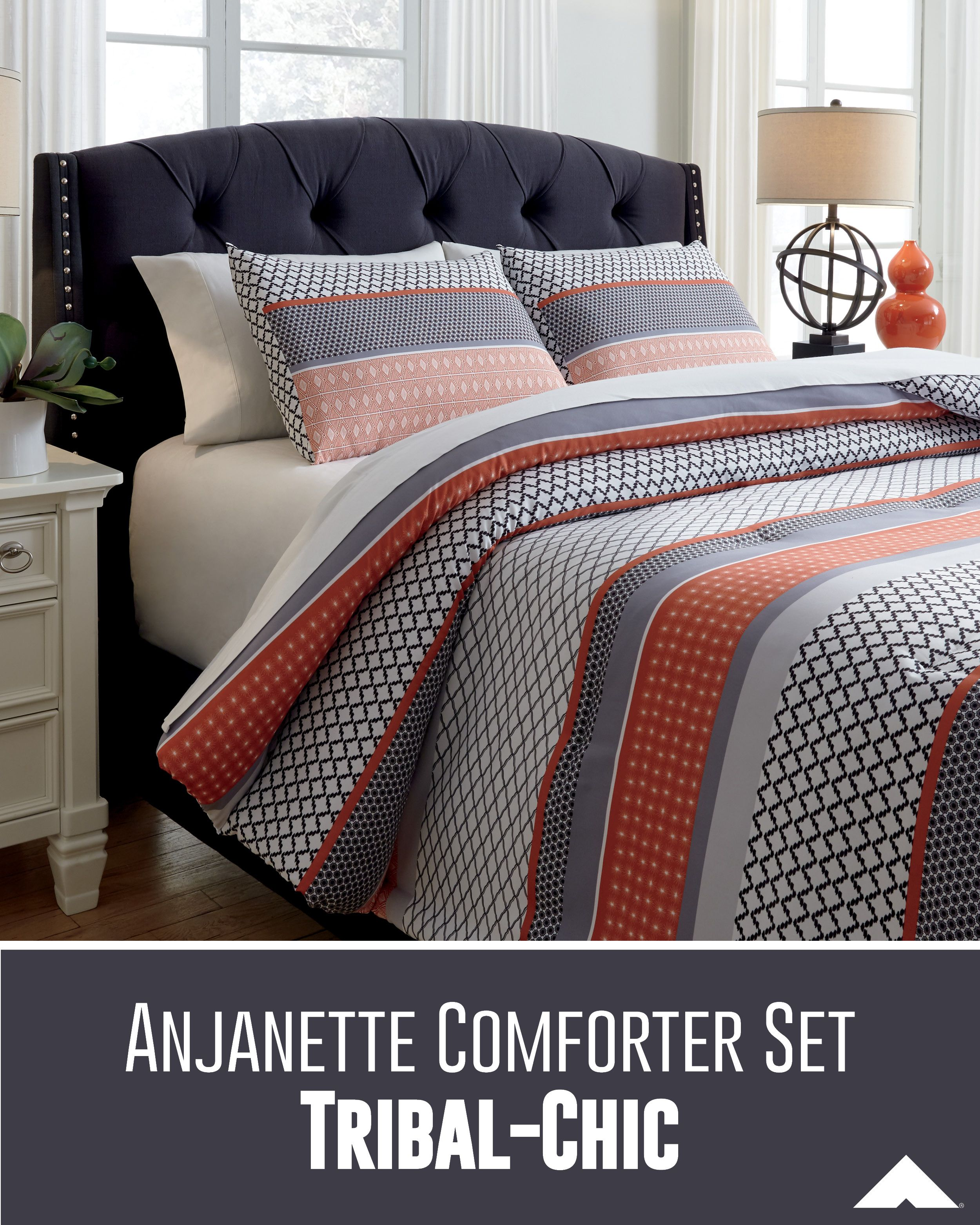 Anjanette Multi Color Comforter Set By Ashley Furniture