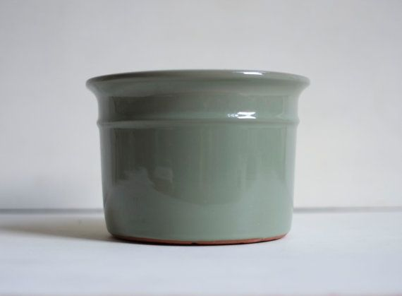 high gloss sage green large glaze terracotta ceramic planter flower pot etsy california