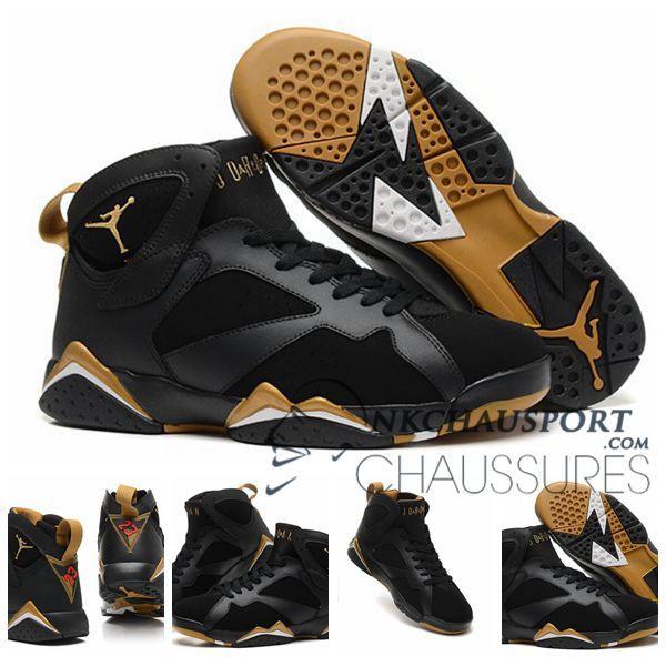 huge selection of 83a0c b550c Nike Air Jordan 7   Classique Chaussure De Basket Homme Noir-2