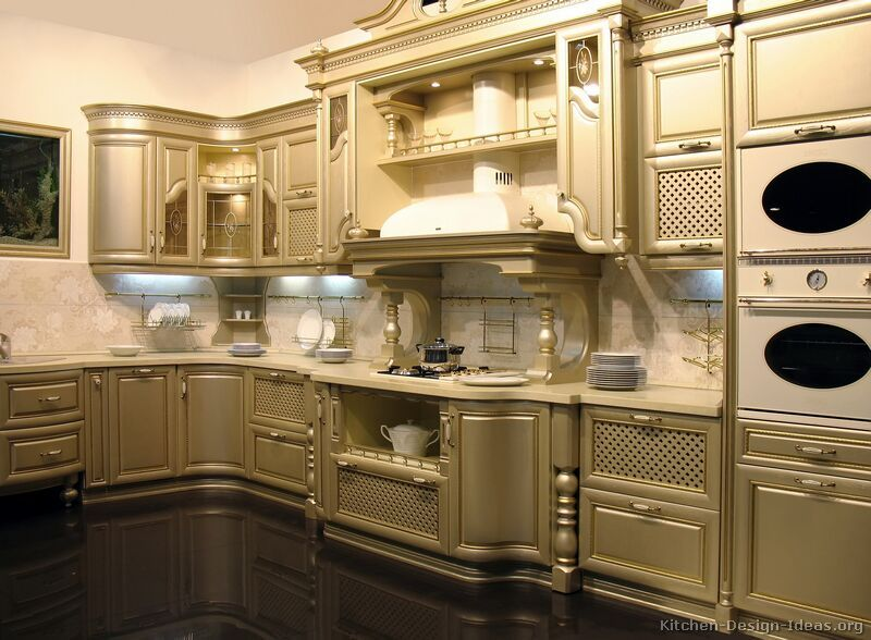 Kitchen Cabinet Design Ideas old kitchen cabinets Kitchen Of The Day A Truly Unique Kitchen With Curved Gold