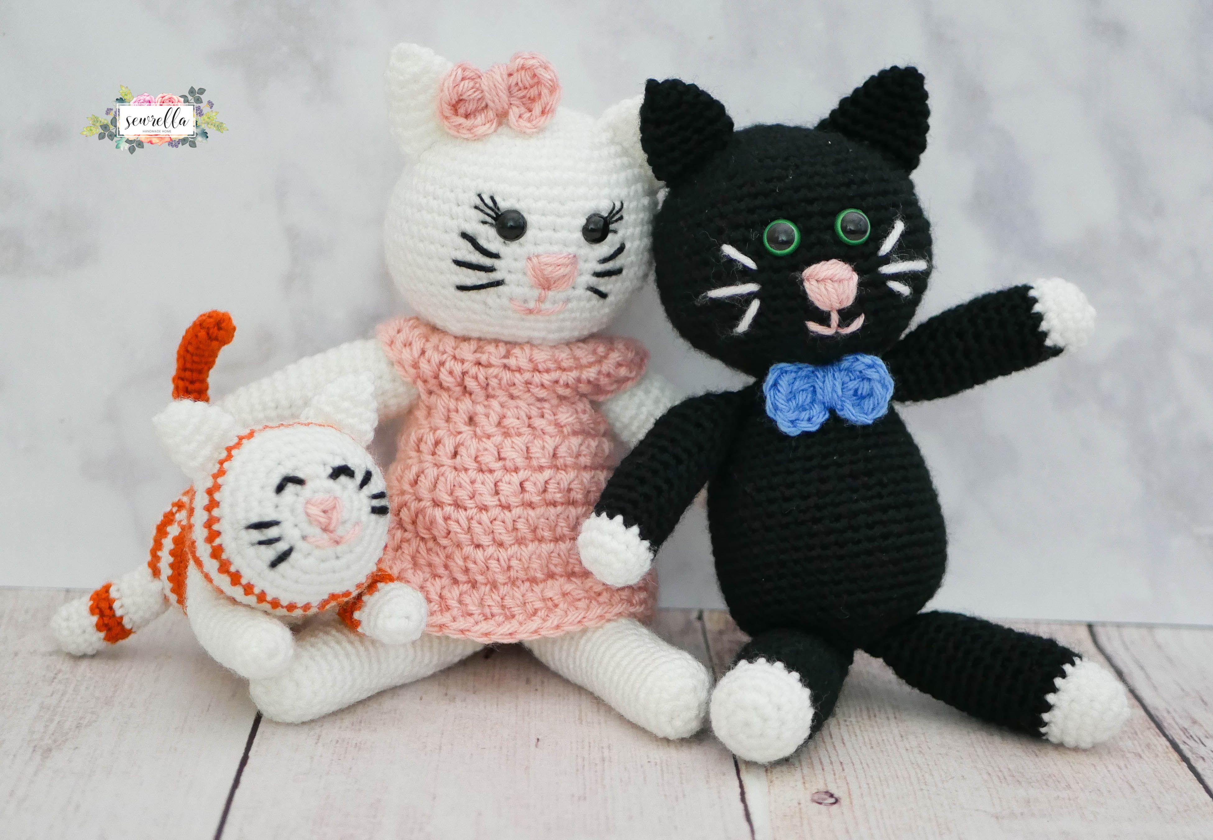 Crochet Kitty Family | Kitten, Crochet and Amigurumi patterns