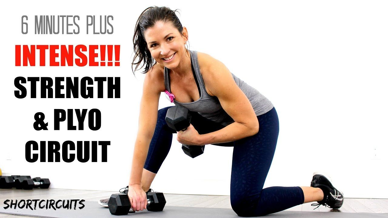 Intense Strength Plyo Workout Circuit 6 Minutes Plus Bonus Round Fitness On Pinterest Workouts And