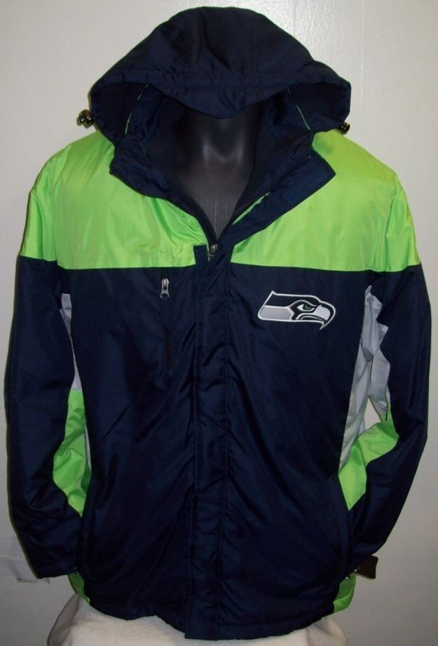 Details about Seattle SEAHAWKS 2 Piece Systems Winter Jacket