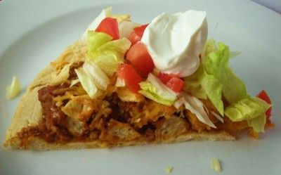 Taco Pizza is family pleasin', easy, and very filling! If you normally go through two pizzas, one of these will do the trick! www.southernplate.com
