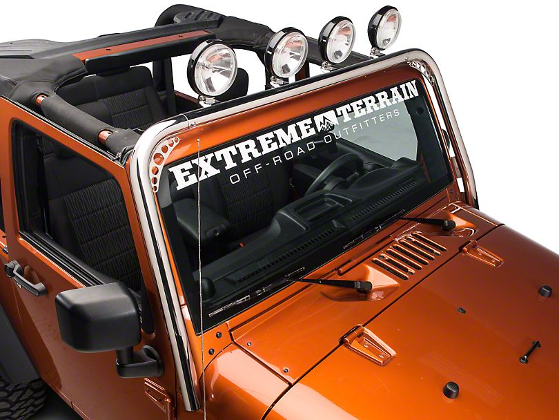 Redrock 4x4 Light Bar Stainless Steel 07 16 Wrangler Jk Jeep