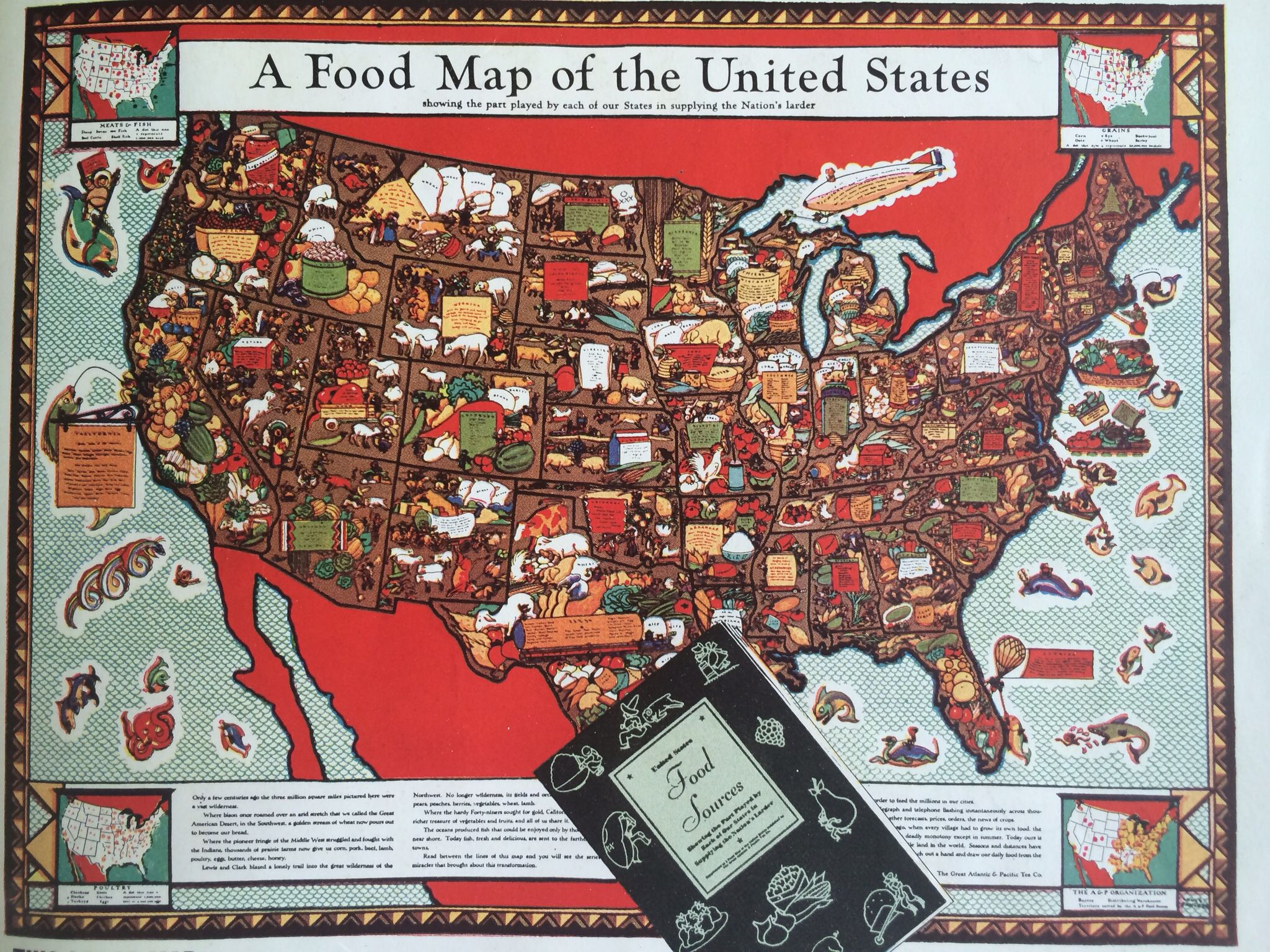 This cool food map was advertised in woman s day oct 7 1937 we this cool food map was advertised in woman s day oct 7 1937 sciox Gallery