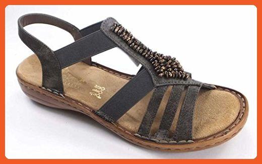 bieten eine große Auswahl an am besten authentisch letzter Rabatt Rieker DA-SANDALE Size 10.5 US Grey - Sandals for women ...