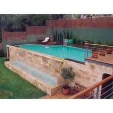 Resultado de imagen de piscinas elevadas obra casas - Piscinas elevadas de obra ...