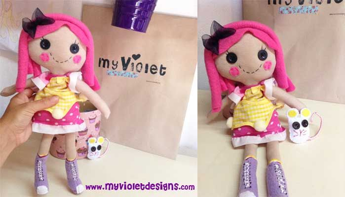 Muñeca Lalaloopsy 30cm con raton, My Violet :D myvioletdesigns.com