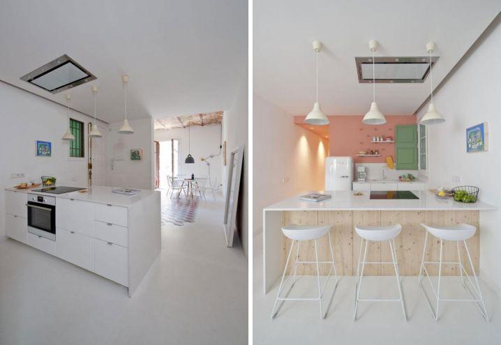 A sinistra sfondo total white per la cucina ringhult di ikea