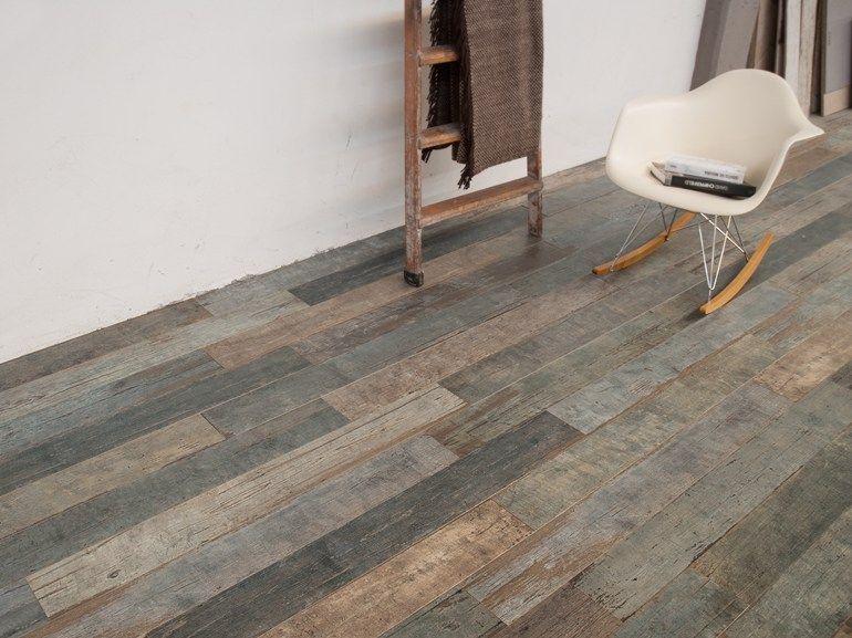 Pavimento/rivestimento in gres porcellanato effetto legno BLENDART ...