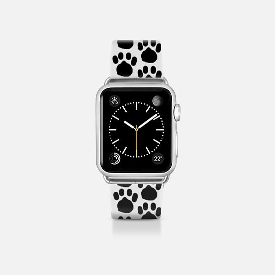 pas - Casetify Band by trebam | available here: https://www.casetify.com/product/JfzAC_pas/apple-watch/apple-watch-band-38mm-matte-silver#/133400 | #casetifyartist @casetify #trebam @trebamstyle #blackandwhite #dogs #cats #doglover #catlover #paws #pawprint