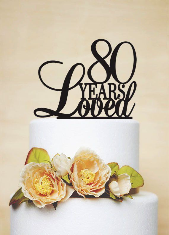 80th Anniversary Cake Topper80th Birthday Topper A024