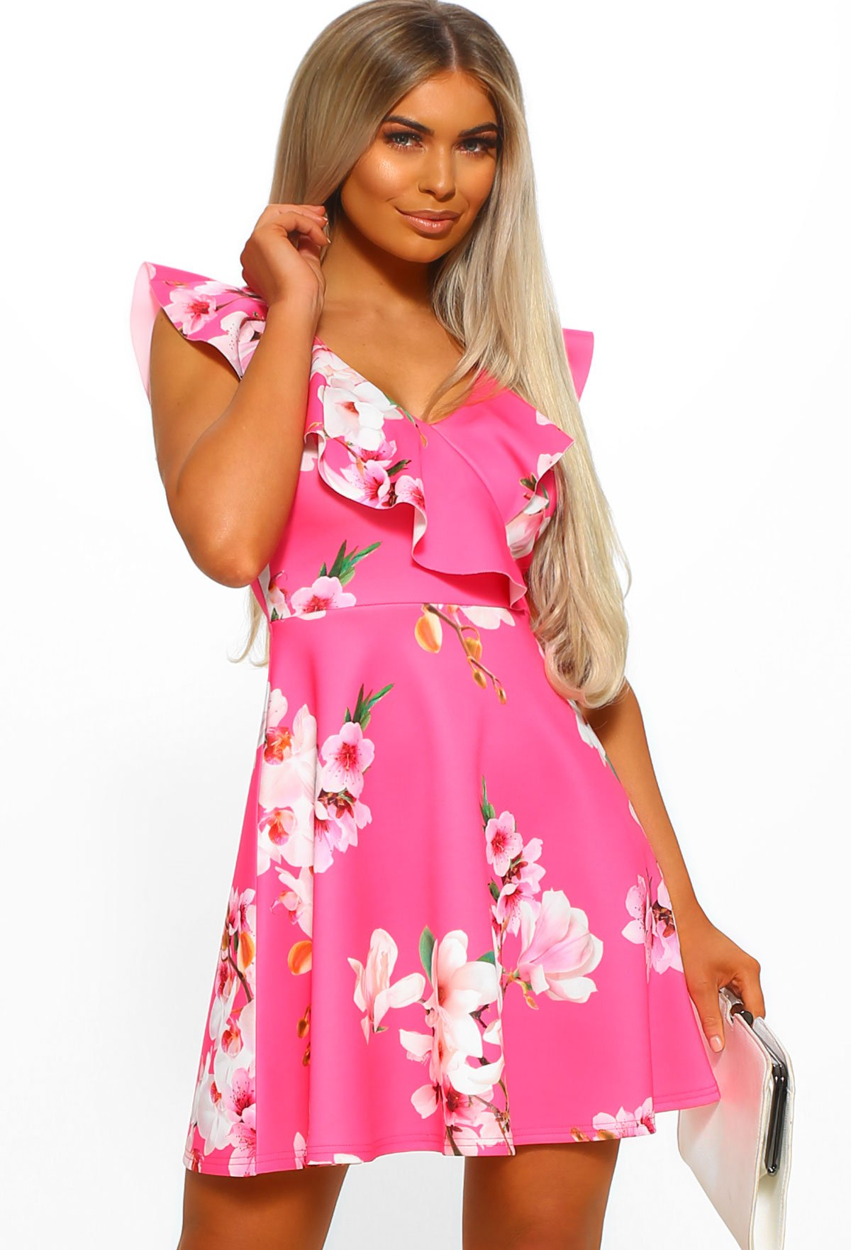 6f80fc93 Hampton's Party Pink Floral Frill Skater Dress - 8 in 2019 | NEW IN ...