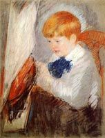 Mary Cassatt (American, Impressionism, 1844–1926): Robert and his sailboat, 1884-1885. - Google Search