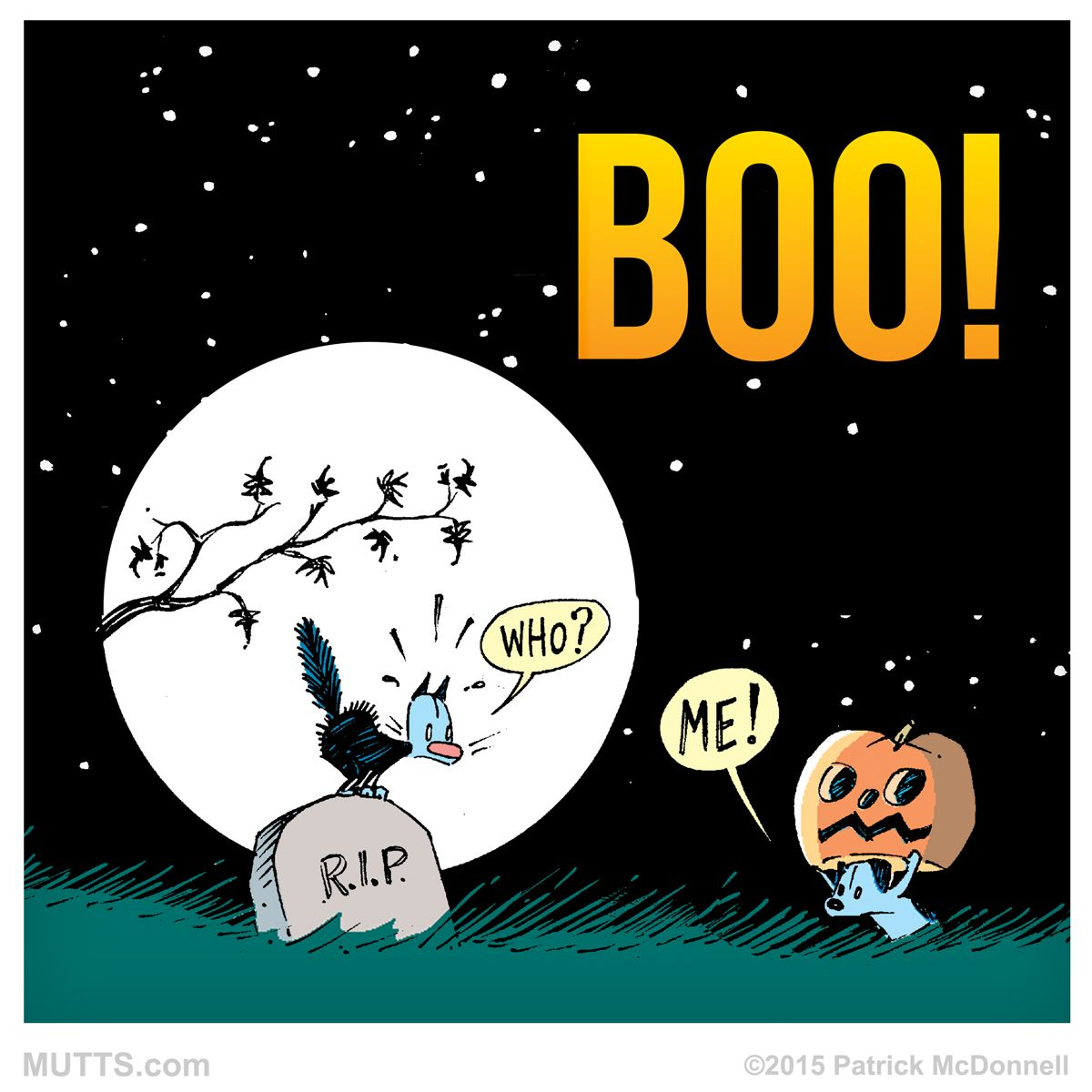 boo! five more days until #halloween! #muttscomics | mutts | pinterest