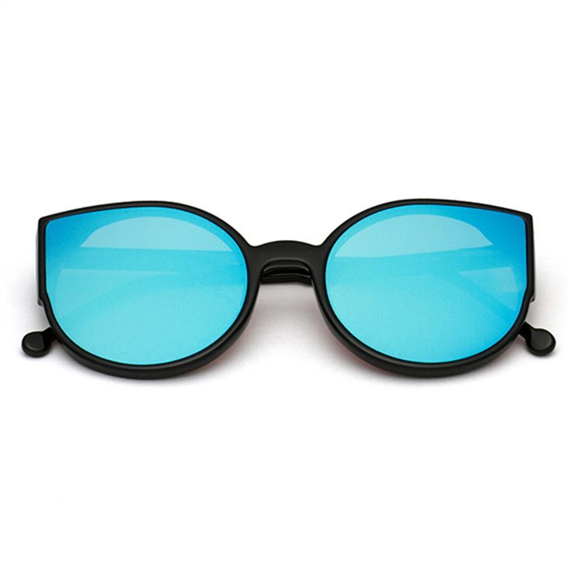 222d233f48 NYWOOH Cat Eye Sunglasses Mirror Coating Reflective Sun Glasses Big Black  Frame Eyewear Shades for Women