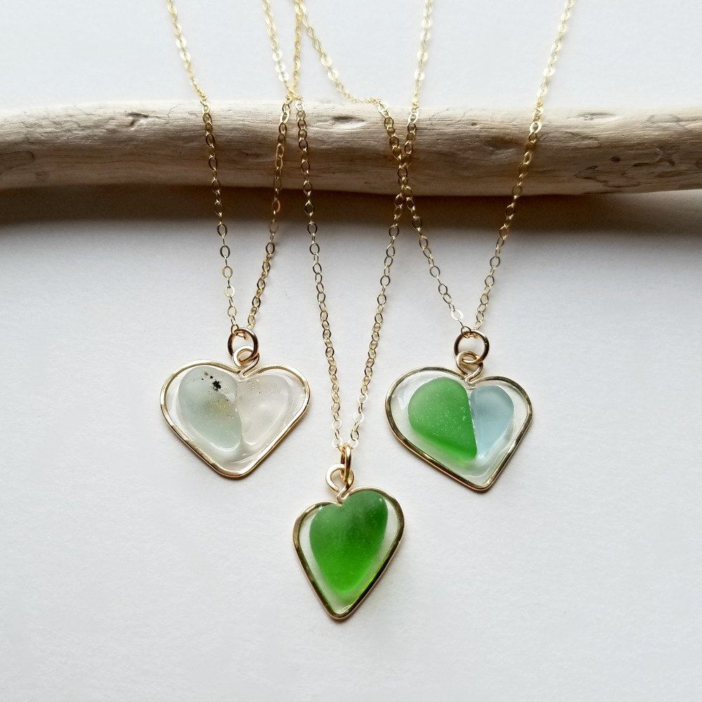 Sea glass heart necklace hawaiian beach glass necklace resin heart sea glass heart necklace hawaiian beach glass necklace resin heart pendant hawaiian beach mozeypictures Image collections
