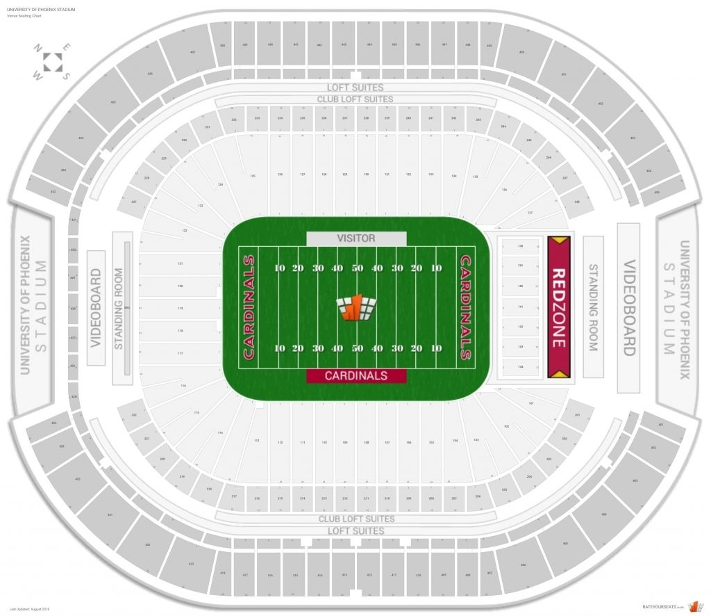 The Most Awesome University Of Phoenix Stadium Concert Seating Chart With Seat Numbers
