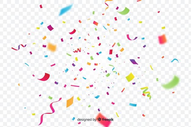 Download Realistic Colorful Confetti Background For Free Confetti Background Vector Free Graphic Design Background Templates