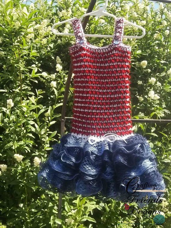 Crochet Pattern, Princess Britt Toddler Dress with Sashay Ruffle ...