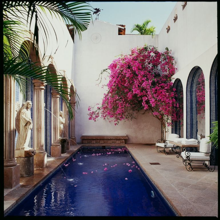 July Festivals and Events in Mexico Courtyard pool