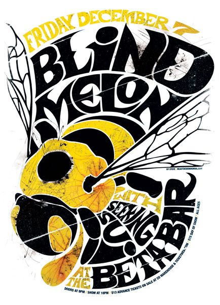 Blind Melon - Seeking Sui / gig poster by Stephen Leacock