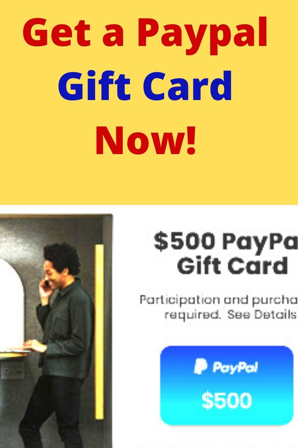 Get a paypal gift card now in 2020 paypal gift card