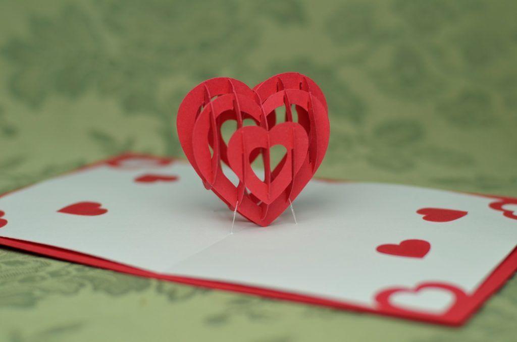 Valentine S Day Pop Up Card 3d Heart Tutorial Creative Pop Up Cards Pop Up Cards Heart Pop Up Card Pop Up Card Templates