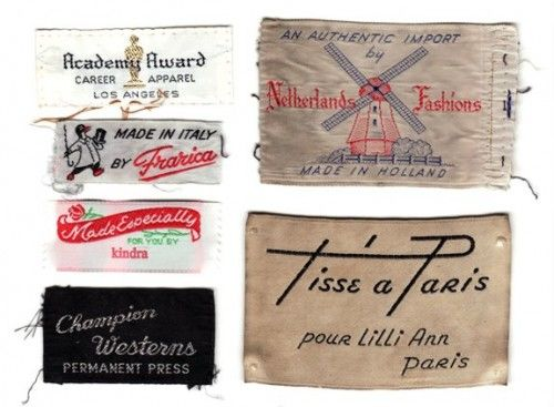 vintage back neck labels