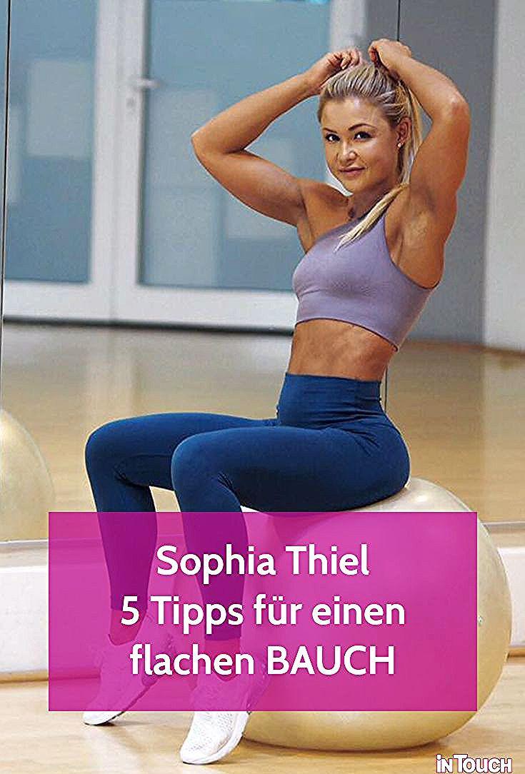 Sophia Thiel: Ihre ultimativen Tipps für einen flachen Bauch #sophiathiel #sport #fitness #healthy #...