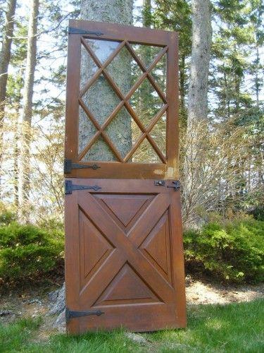 Architectural Antiquities 240 Cross Buck Design Dutch Door Set With Strap Hardware 30 X 78 Door Sets French Doors Exterior Sliding Glass Door