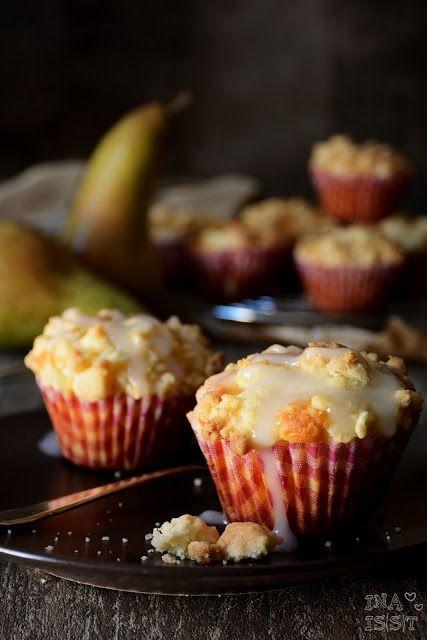 Ina Is(s)t: Birnen-Käsekuchenmuffins mit Vanille / Cheesecake muffins with pear and vanilla