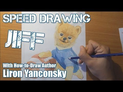 Speed Drawing Jiff the Dog - YouTube