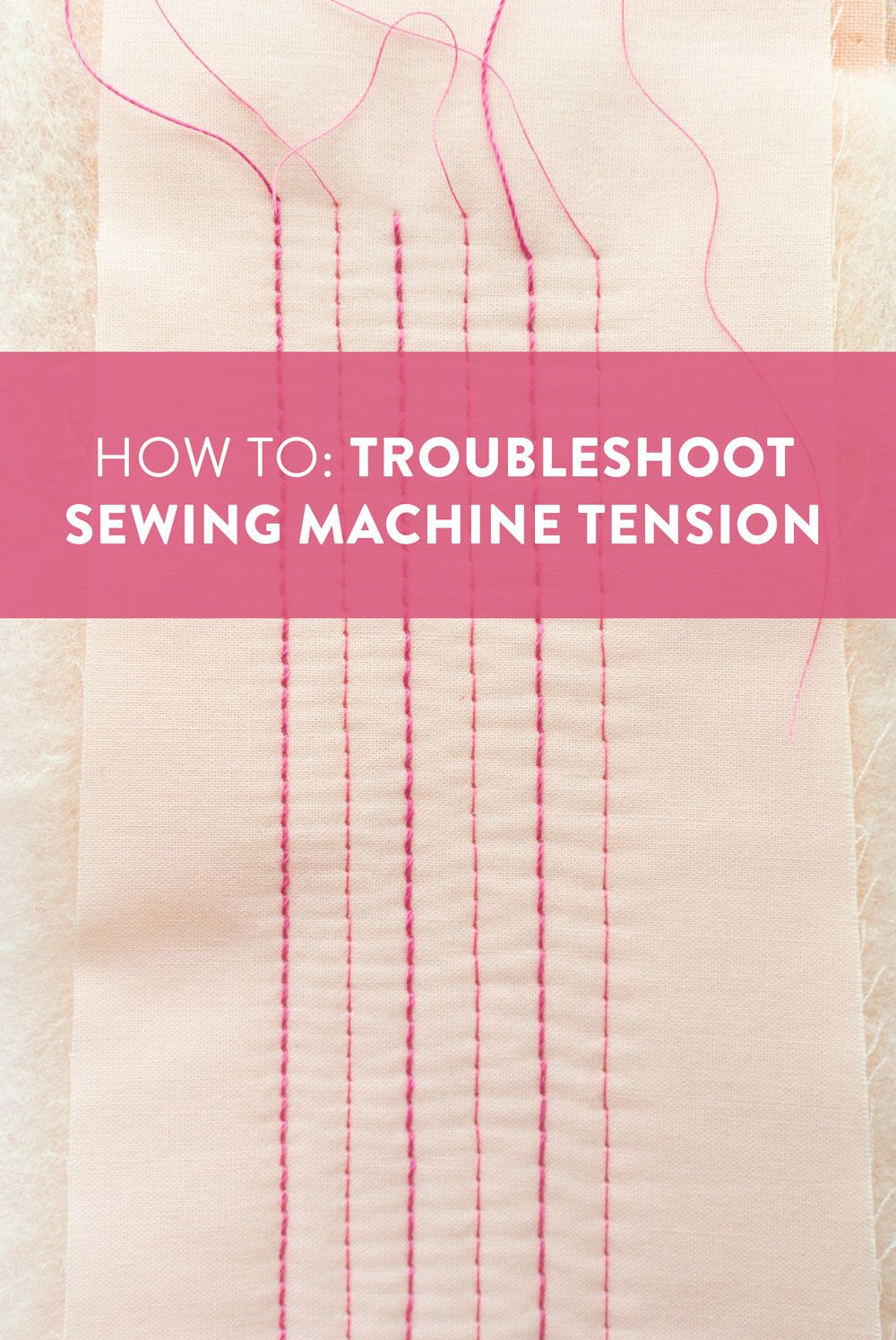 How To Troubleshoot Sewing Machine Tension Suzy Quilts Sewing Machine Tension Sewing Basics Sewing For Beginners