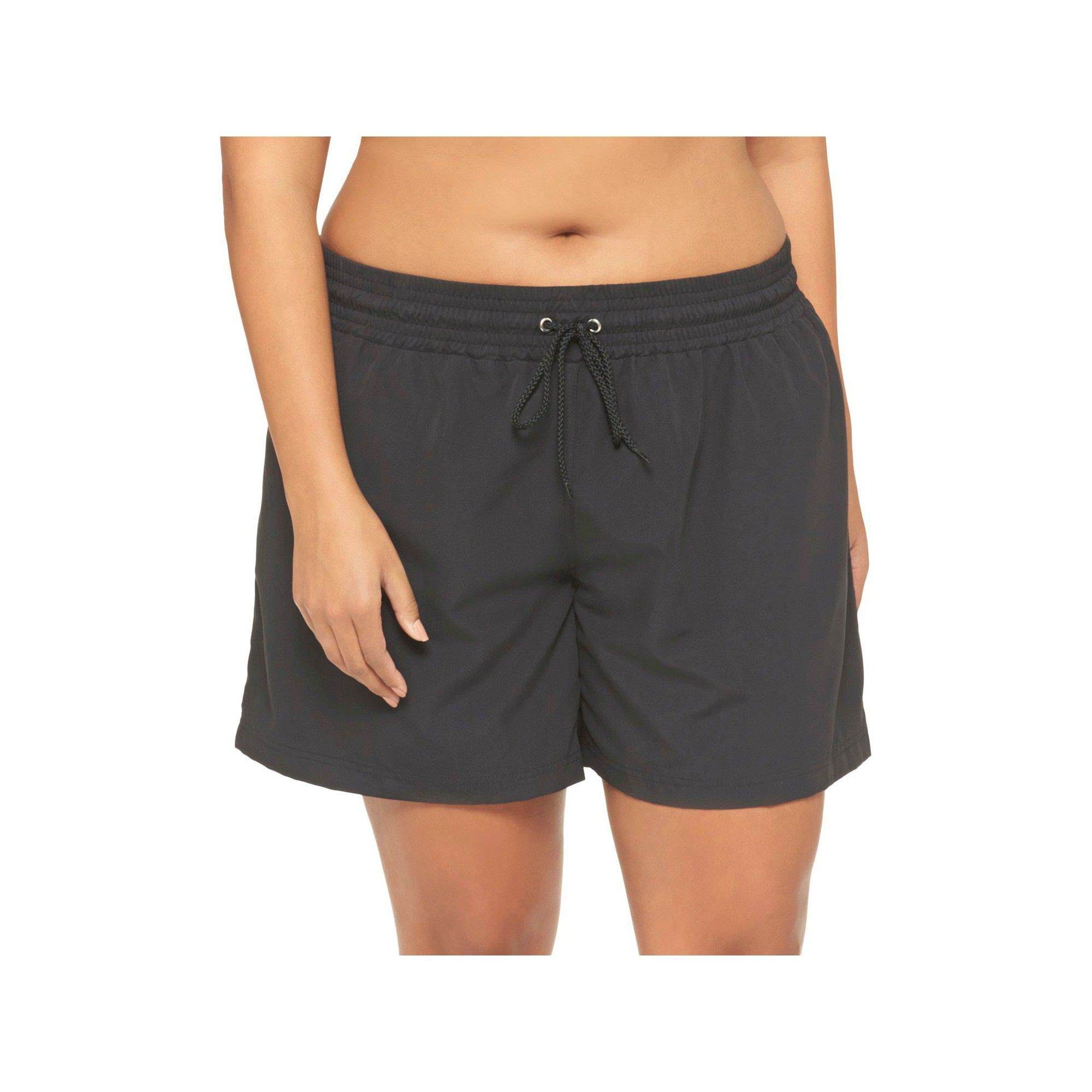 db32a74da2834 Women's Plus Size Swim Board Shorts - Ava & Viv - Black 20W/22W ...
