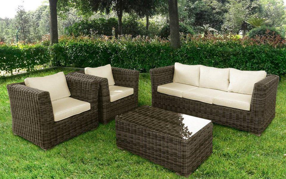 Baidani Loungeset Atmosphere 17 Tlg Ecklounge Tisch 60x60cm Polyrattan Inkl Auflage Online Kaufen Loungemobel Garten Lounge Mobel Gartenmobel