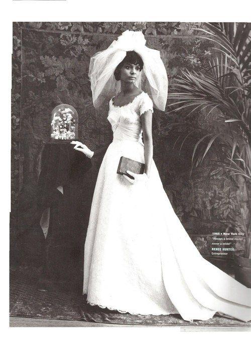1965 bridal fashion