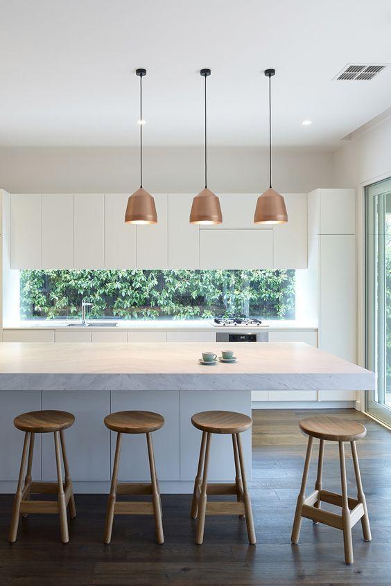 Küche inspiration: Pendelleuchten über der Küche Insel » Wohnideen für Inspiration #kücheninspiration
