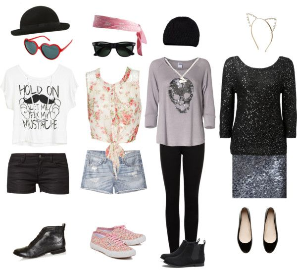 """I made something similar to Taylor Swifts outfits on her music video 22"" by malik98 ❤ liked on Polyvore"